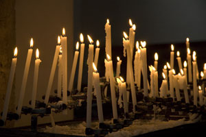 Candles in Pienza